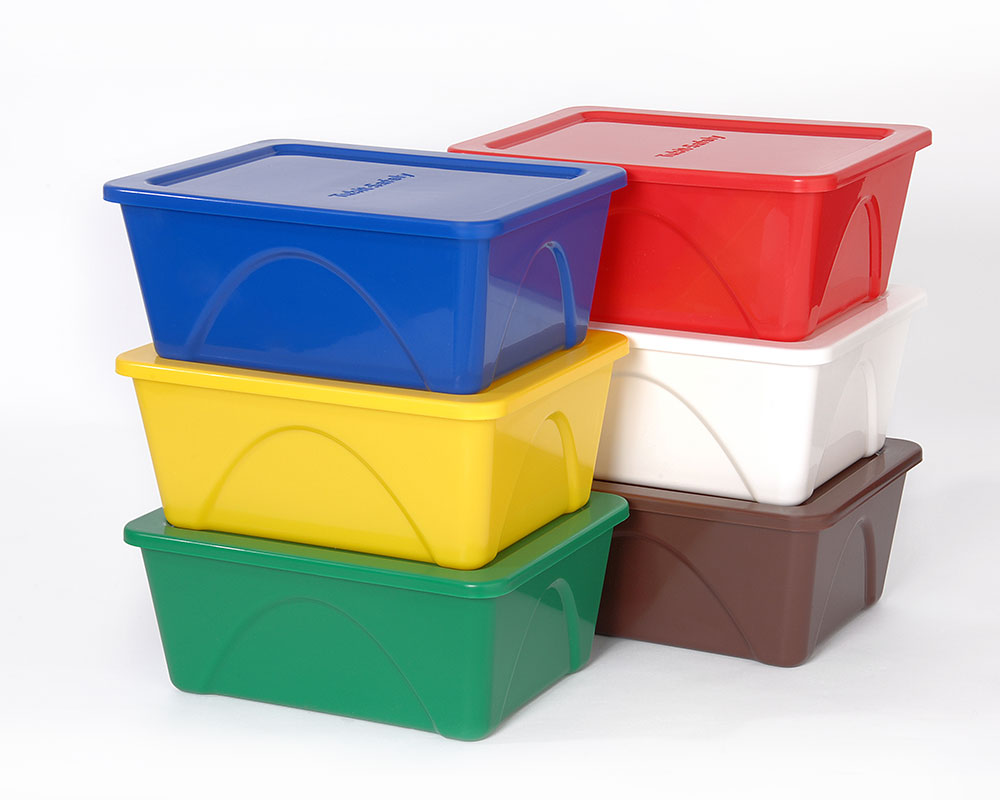 Charming 36 Colour Coded Food Containers 4 Ltr Large Tubs