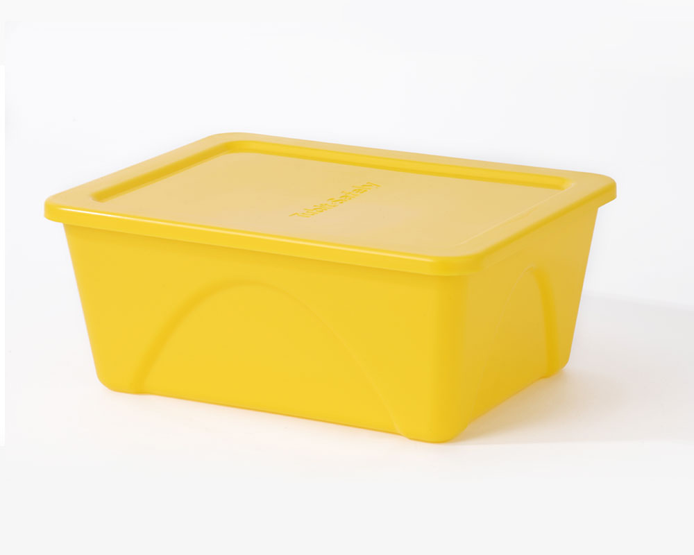 6 Yellow Food Containers 4 4 Ltr Cooked Meat Tubs